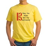 Play the Music Alto Clef Yellow T-Shirt