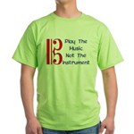 Play the Music Alto Clef Green T-Shirt