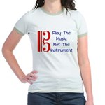 Play the Music Alto Clef Jr. Ringer T-Shirt