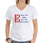 Play the Music Alto Clef Women's V-Neck T-Shirt
