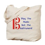 Play the Music Alto Clef Tote Bag