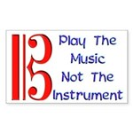 Play the Music Alto Clef Rectangle Sticker