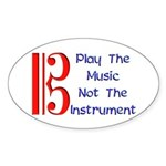 Play the Music Alto Clef Oval Sticker