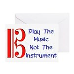 Play the Music Alto Clef Greeting Cards (Pk of 10)