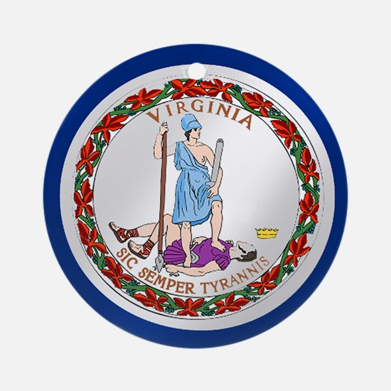 Virginia State Flag Round Ornament
