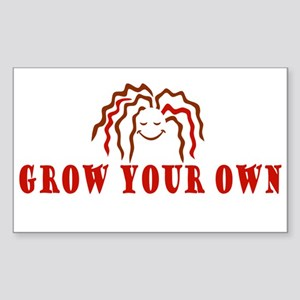 Grow Your Own Rectangle Sticker