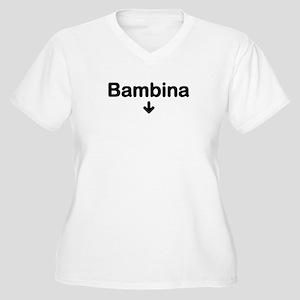 Bambina Women's Plus Size V-Neck T-Shirt