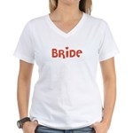 Heart Bride Women's V-Neck T-Shirt
