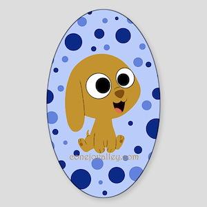 Lil' Puppy Oval Sticker