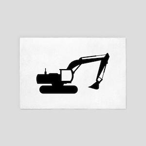 excavator 4' x 6' Rug