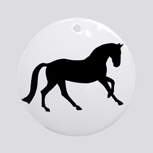 Cantering Horse Ornament (Round)