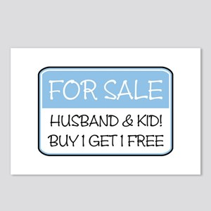 4SALE HUSB/KID (blue) Postcards (Package of 8)