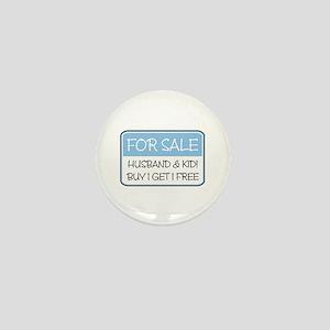 4SALE HUSB/KID (blue) Mini Button