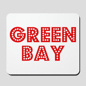 Retro Green Bay (Red) Mousepad