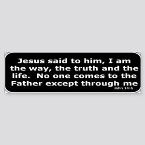 Bible verse John 14:6 Sticker (Bumper)