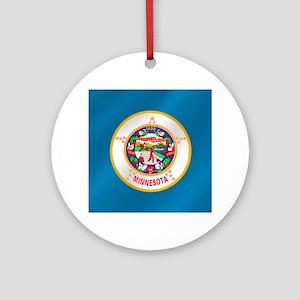 Flag of Minnesota Round Ornament
