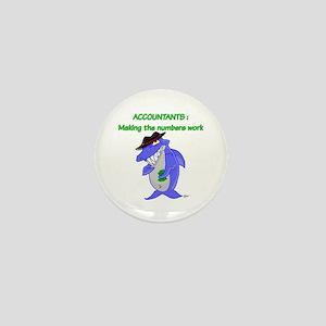 Shark Accountant Mini Button
