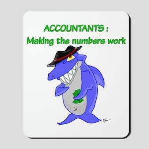 Shark Accountant Mousepad