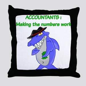 Shark Accountant Throw Pillow