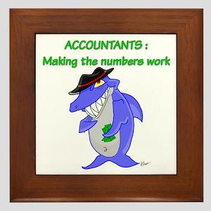 Shark Accountant Framed Tile