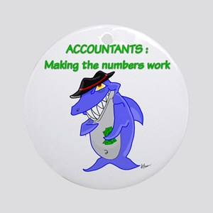 Shark Accountant Ornament (Round)