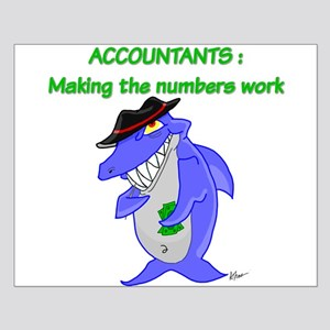 Shark Accountant Small Poster