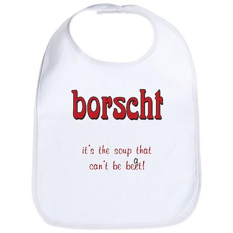 Borscht can't be beet Bib