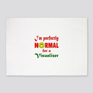 I'm perfectly normal for a Visualiz 5'x7'Area Rug