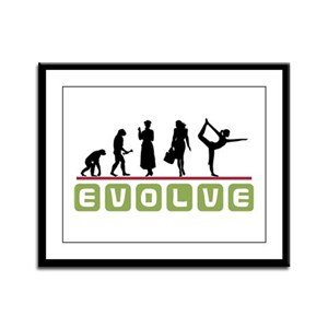 Evolve Yoga Framed Panel Print