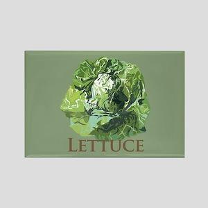 Leafy Lettuce Rectangle Magnet