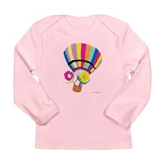 Ballooning With Sunflowers Long Sleeve T-Shirt