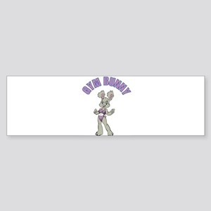 Gym Bunny Girl Bumper Sticker