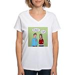 Diet Pill Meaningless Claim Women's V-Neck T-Shirt