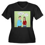 Diet Pill Me Women's Plus Size V-Neck Dark T-Shirt
