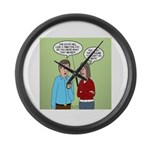 Diet Pill Meaningless Claims Large Wall Clock