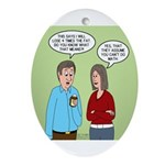 Diet Pill Meaningless Claims Oval Ornament