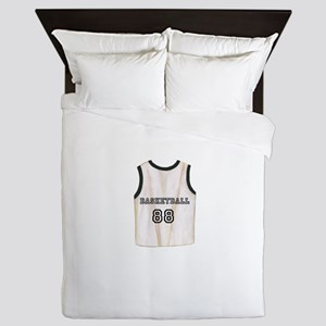 Basketball Shirt Queen Duvet