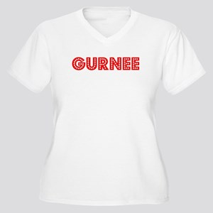 Retro Gurnee (Red) Women's Plus Size V-Neck T-Shir