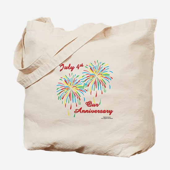 July 4th Anniversary Tote Bag