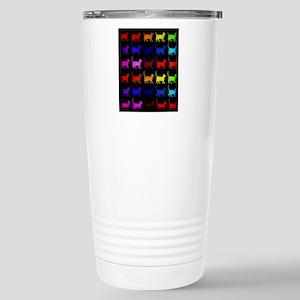 Rainbow Of Cats 16 oz Stainless Steel Travel Mug