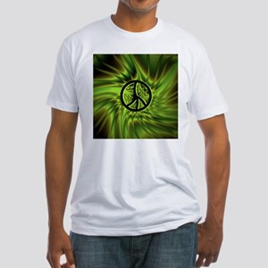 Green Peace Fitted T-Shirt