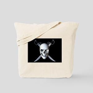 Pirate Skull Flag Tote Bag