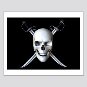 Pirate Skull Flag Small Poster