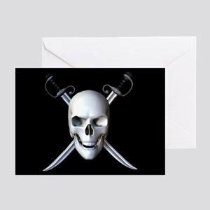 Pirate Skull Flag Greeting Cards (Pk of 10)
