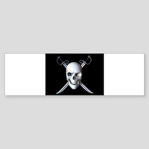 Pirate Skull Flag Bumper Sticker