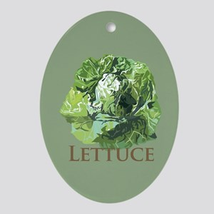 Leafy Lettuce Oval Ornament
