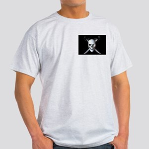 Pirate Skull Flag Ash Grey T-Shirt