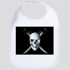 Pirate Skull Flag Bib