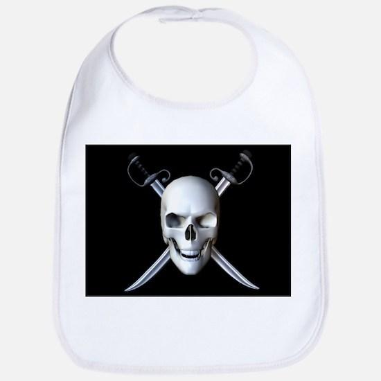 Pirate Skull Flag Bib