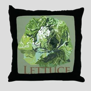Leafy Lettuce Throw Pillow